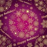 Modelo inconsútil púrpura de la Navidad Fotografía de archivo libre de regalías