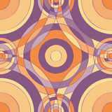 Modelo inconsútil púrpura del círculo Fotos de archivo libres de regalías
