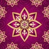 Modelo inconsútil púrpura oscuro floral stock de ilustración