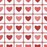 Modelo inconsútil para el día de tarjeta del día de San Valentín Imagen de archivo