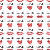 Modelo inconsútil para el día de tarjeta del día de San Valentín Foto de archivo