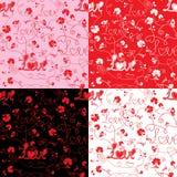 Modelo inconsútil para el día del `s de la tarjeta del día de San Valentín Imágenes de archivo libres de regalías