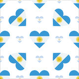 Modelo inconsútil patriótico de la bandera de la Argentina stock de ilustración