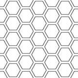 Modelo inconsútil pelado hex. de la rejilla ilustración del vector
