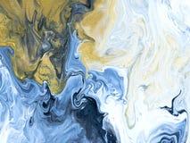 Modelo inconsútil pintado a mano abstracto de mármol azul Imagen de archivo libre de regalías
