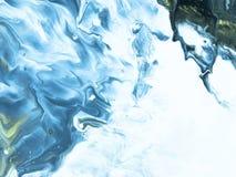 Modelo inconsútil pintado a mano abstracto de mármol azul Foto de archivo
