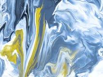 Modelo inconsútil pintado a mano abstracto de mármol azul Foto de archivo libre de regalías