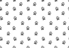 Modelo inconsútil Pistas animales del perro Ilustración del vector ilustración del vector