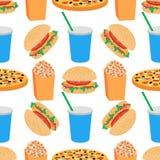 Modelo inconsútil plano de la comida Imagenes de archivo