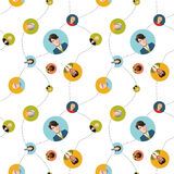 Modelo inconsútil plano de la red social Fotos de archivo