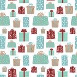 Modelo inconsútil por la Navidad y el Año Nuevo stock de ilustración