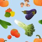 Modelo inconsútil Producto-vehículos frescos de vegetables ilustración del vector