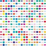 Modelo inconsútil punteado colorido imagen de archivo libre de regalías