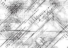 MODELO INCONSÚTIL PUNTEADO GRUNGE DEL VECTOR TEXTURA DE SEMITONO DIAGONAL DEL DISEÑO stock de ilustración