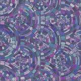 Modelo inconsútil radial del embaldosado del mosaico púrpura Fotografía de archivo libre de regalías