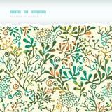 Modelo inconsútil rasgado horizontal texturizado de las plantas Imagen de archivo libre de regalías