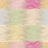 Modelo inconsútil rayado y ondulado del Grunge del edredón en colores en colores pastel Imagen de archivo