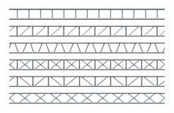 Modelo inconsútil realista de la viga de acero del braguero para el diseño de publicidad al aire libre y de señales de tráfico stock de ilustración