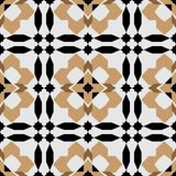 Modelo inconsútil redondo ornamental de Marruecos Imagen de archivo