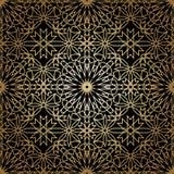 Modelo inconsútil redondo ornamental de Marruecos Foto de archivo libre de regalías