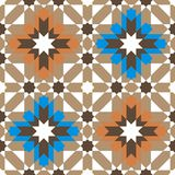 Modelo inconsútil redondo ornamental de Marruecos Fotografía de archivo
