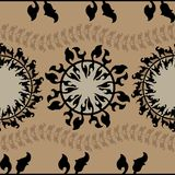 Modelo inconsútil redondo ornamental de Marruecos Ornamento tradicional de Oriente Fotos de archivo