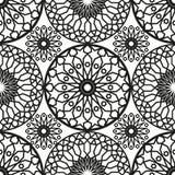 Modelo inconsútil redondo ornamental de Marruecos Ornamento tradicional de Oriente Adorno oriental plano Azulejo marroquí Fotos de archivo