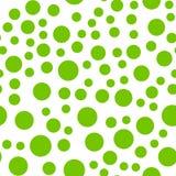 Modelo inconsútil repetible con los círculos verdes al azar Fotografía de archivo libre de regalías
