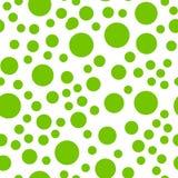 Modelo inconsútil repetible con los círculos verdes al azar Fotos de archivo