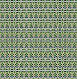 Modelo inconsútil retro Blanco, verde, azul, amarillo, negro Fotos de archivo libres de regalías