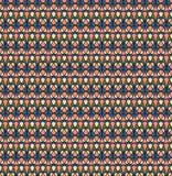 Modelo inconsútil retro; Crema, rosa, verde, fondo azul Imagen de archivo libre de regalías