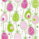 Modelo inconsútil retro de los huevos de Pascua ilustración del vector