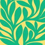 Modelo inconsútil retro del Grunge de hojas coloreadas Imágenes de archivo libres de regalías