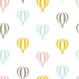 Modelo inconsútil retro del viaje de globos libre illustration