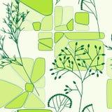 Modelo inconsútil retro floral verde Fotografía de archivo