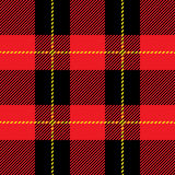 Modelo inconsútil rojo de la tela escocesa de tartán Fotografía de archivo libre de regalías