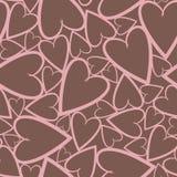 Modelo inconsútil romántico con los corazones Imagen de archivo libre de regalías