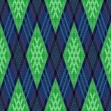 Modelo inconsútil rombal en verde y azul Foto de archivo libre de regalías