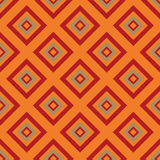 Modelo inconsútil - rombs anaranjados Foto de archivo libre de regalías