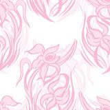 Modelo inconsútil rosado apacible de iris abstractos Imagen de archivo libre de regalías