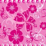 Modelo inconsútil rosado de Hawaii Imagenes de archivo