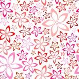 Modelo inconsútil rosado floral blando Foto de archivo