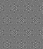Modelo inconsútil simétrico blanco y negro del contraste Fotos de archivo libres de regalías