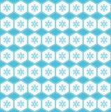Modelo inconsútil simple Copos de nieve en el ornamento ilustración del vector