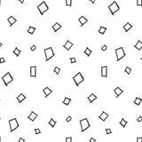 Modelo inconsútil simple de los cuadrados en el fondo blanco Imágenes de archivo libres de regalías