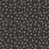 Modelo inconsútil simple de triángulos y de círculos Imágenes de archivo libres de regalías
