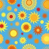 Modelo inconsútil soleado Imagenes de archivo