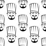 Modelo inconsútil sonriente del fondo de los cocineros libre illustration