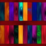 Modelo inconsútil, tableros de madera coloreados de la pintura que brillan intensamente Fotografía de archivo libre de regalías