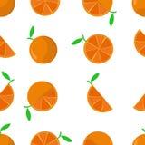Modelo inconsútil tejado de la naranja de la historieta ilustración del vector